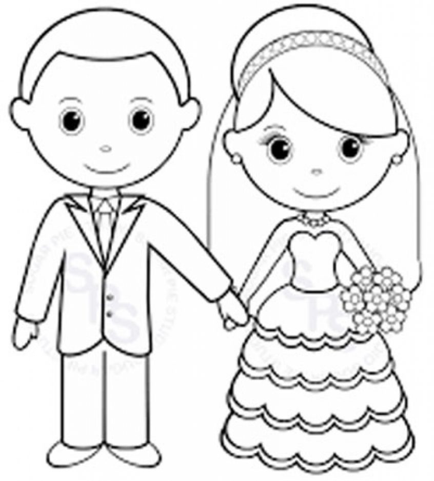 Coloring Pages Ideas  Personalized Colorings Fantastic Wedding