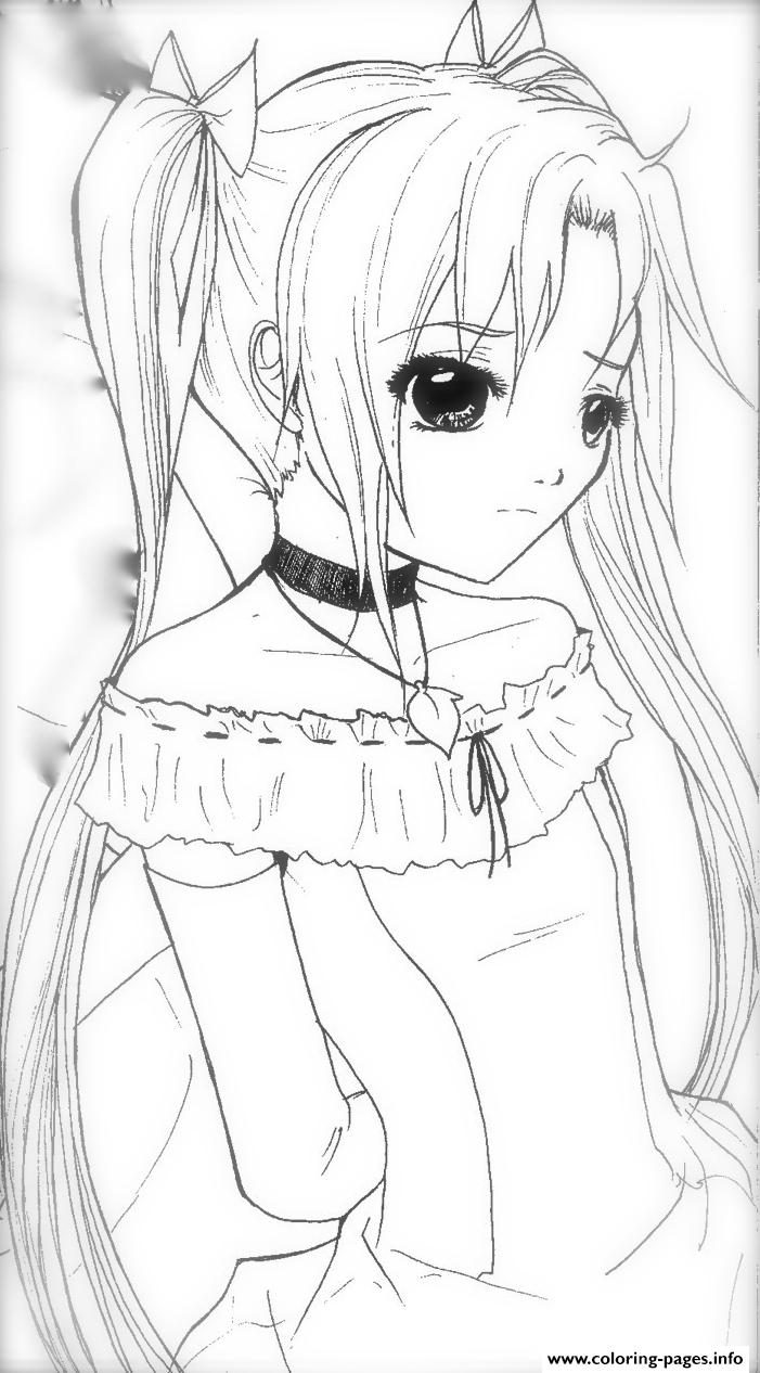 Coloring Pages ~ Printable Anime Coloring Pages Bookline Fabulous
