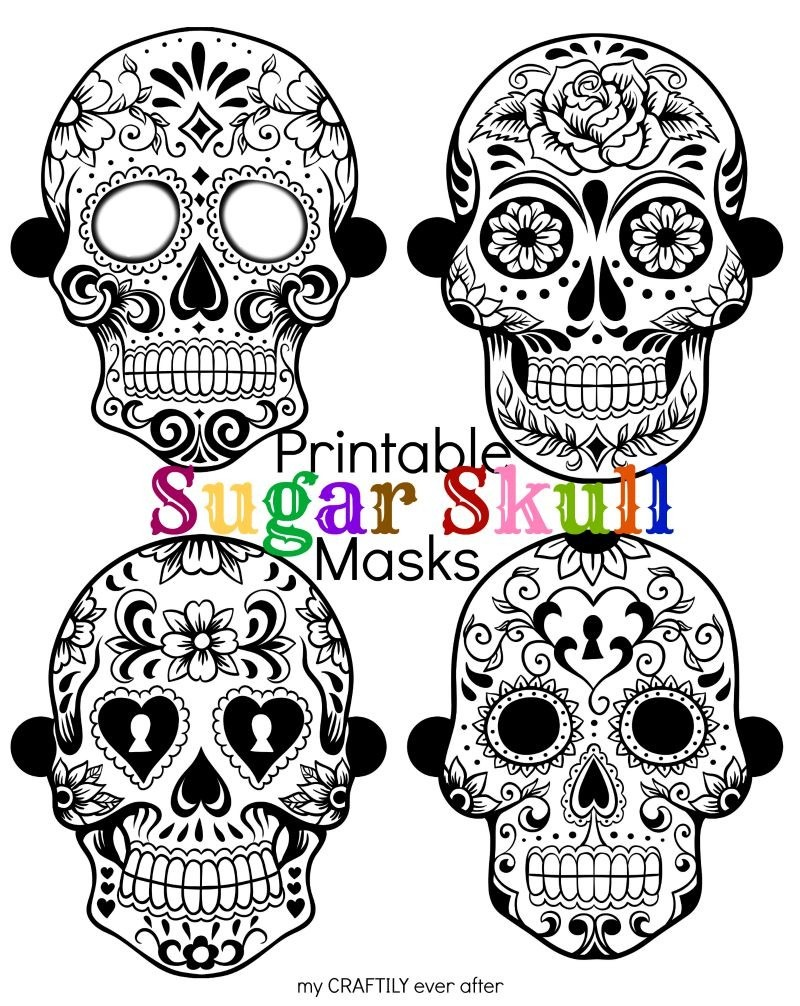 Halloween  Printable Sugar Skull Masks