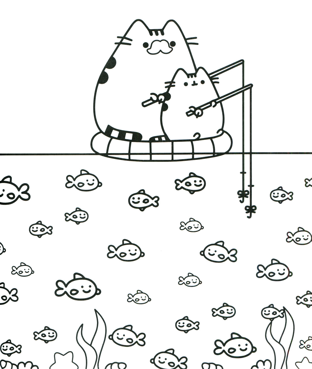 Coloring Pages ~ Marvellous Inspiration Kawaii Cat Coloring Pages
