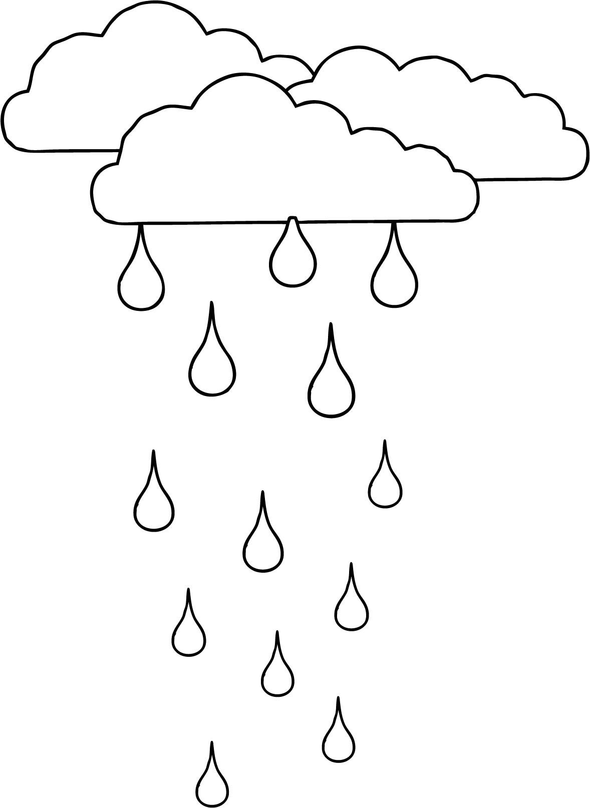 Raindrops Coloring Pages Gallery