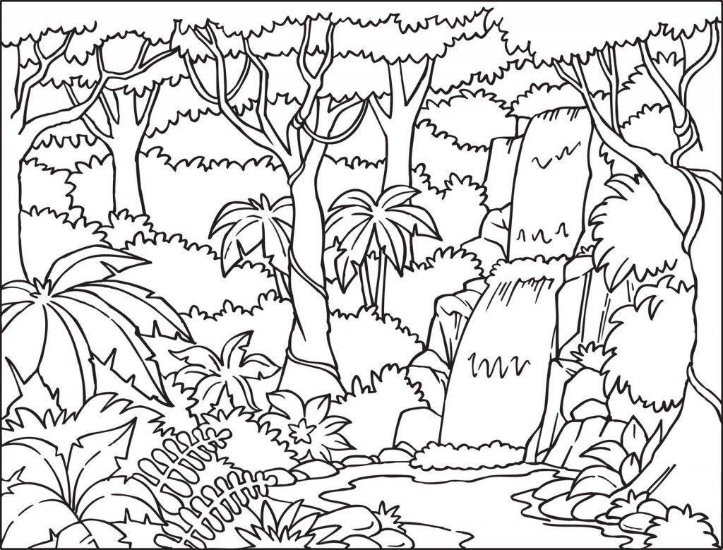 Coloring Pages ~ Rainforest Coloringges To Print Splendi Free