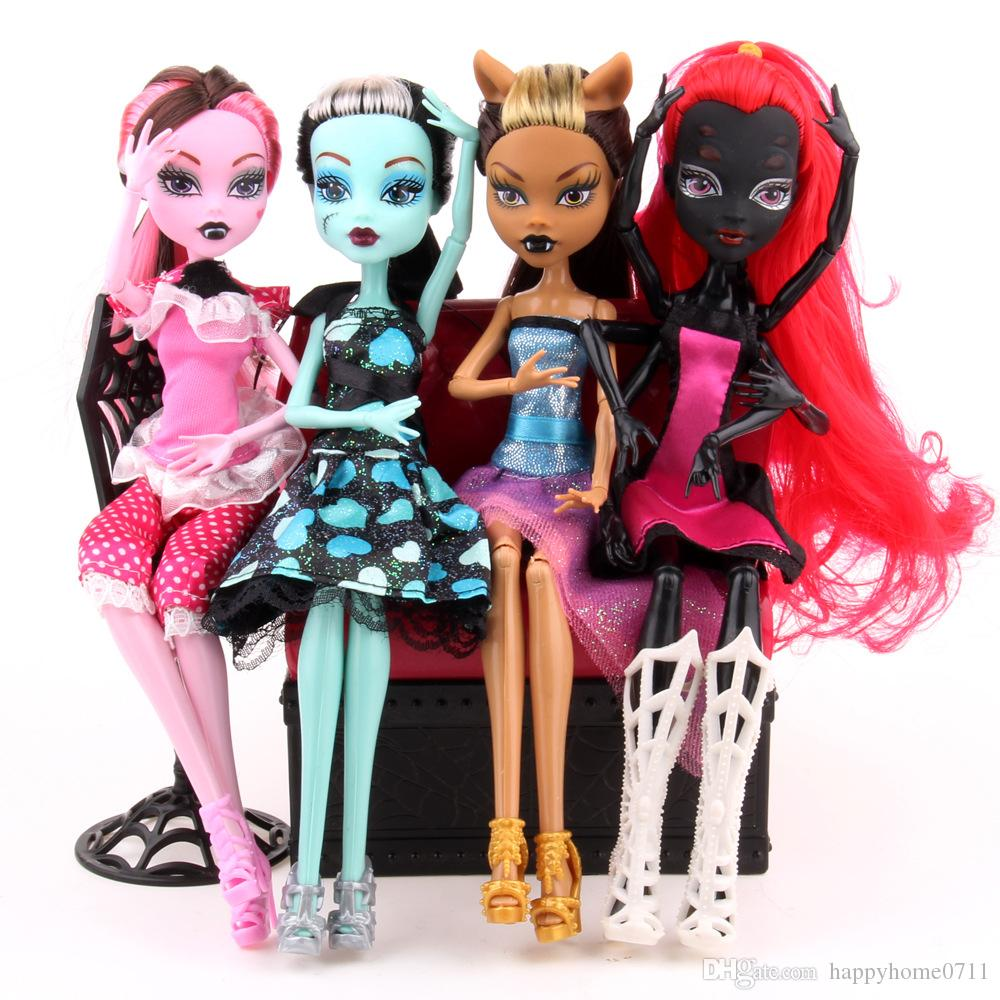 Home Decora Monster High Dolls Elf Monster High School Girls Dolls