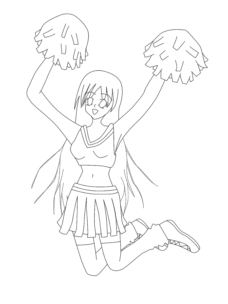 Cheer Megaphone Coloring Pages