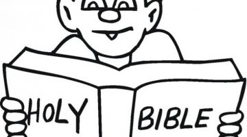 Child Reading Coloring Pages
