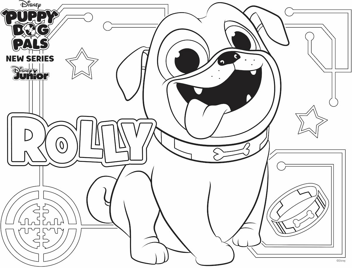 Rolly Coloring Page Family Activity