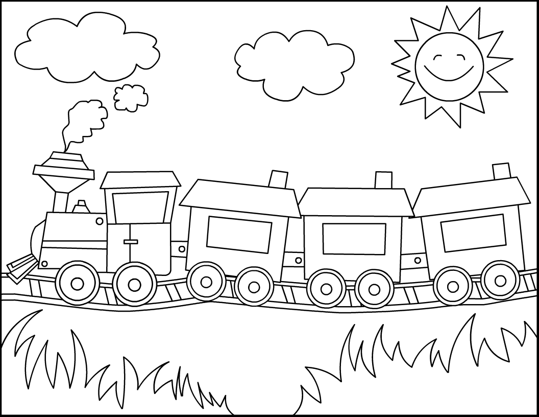 Free Train Drawing For Kids, Download Free Clip Art, Free Clip Art
