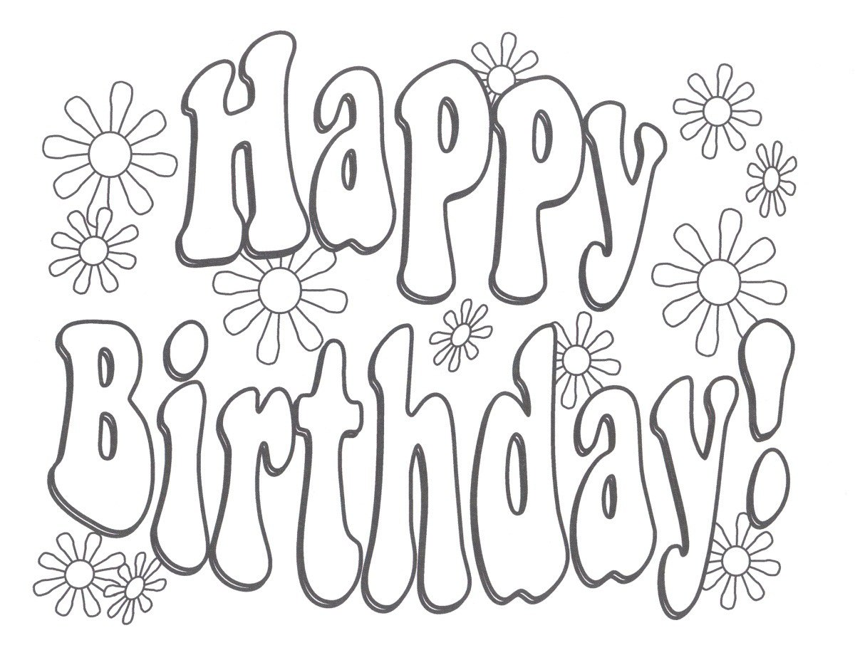 Aunt Birthday Coloring Pages