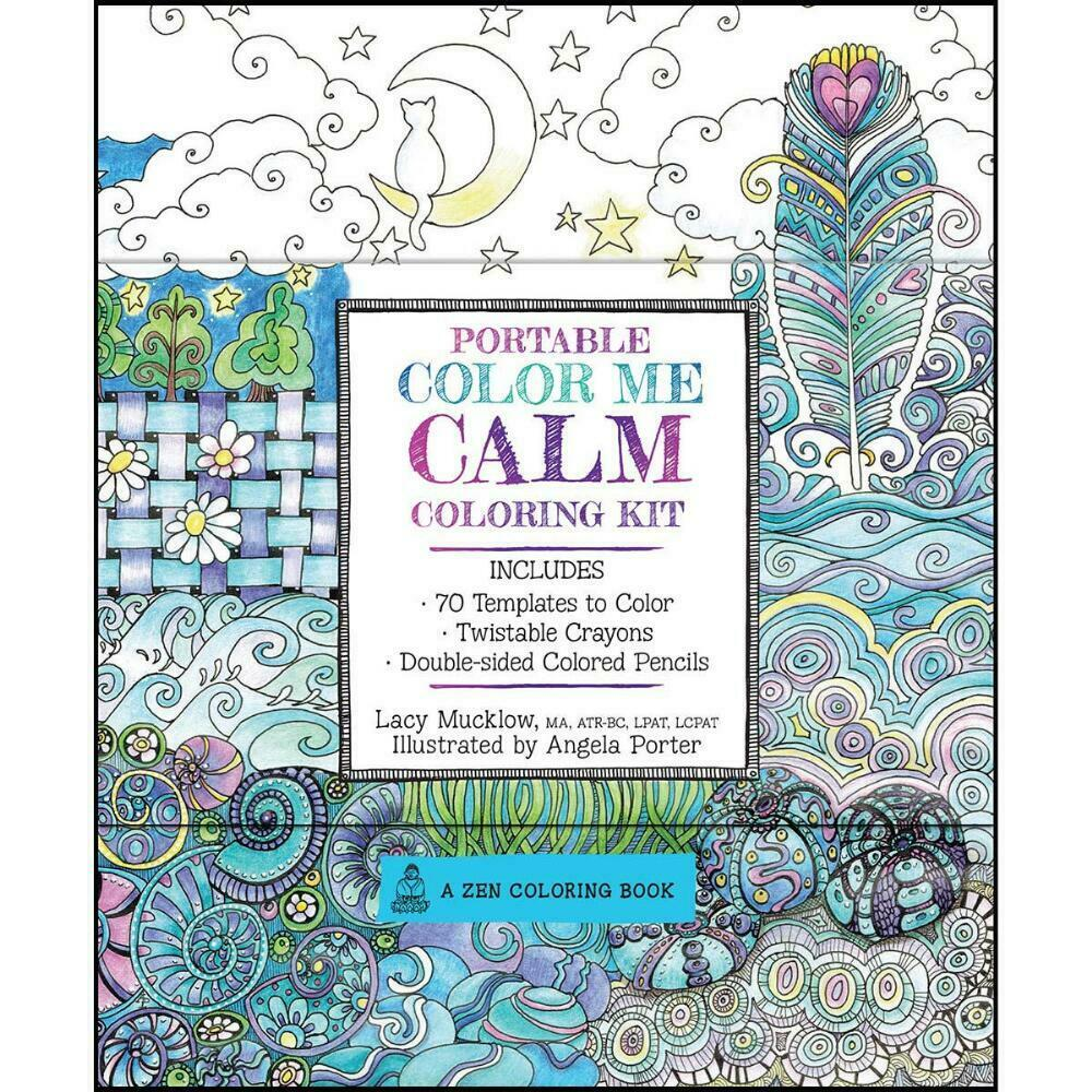 Portable Color Me Calm Coloring Kit Coloring Book 9781631061837
