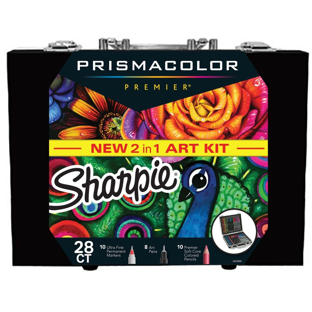 Sharpie And Prisma Coloring Kit Permanent Markers Art Pens
