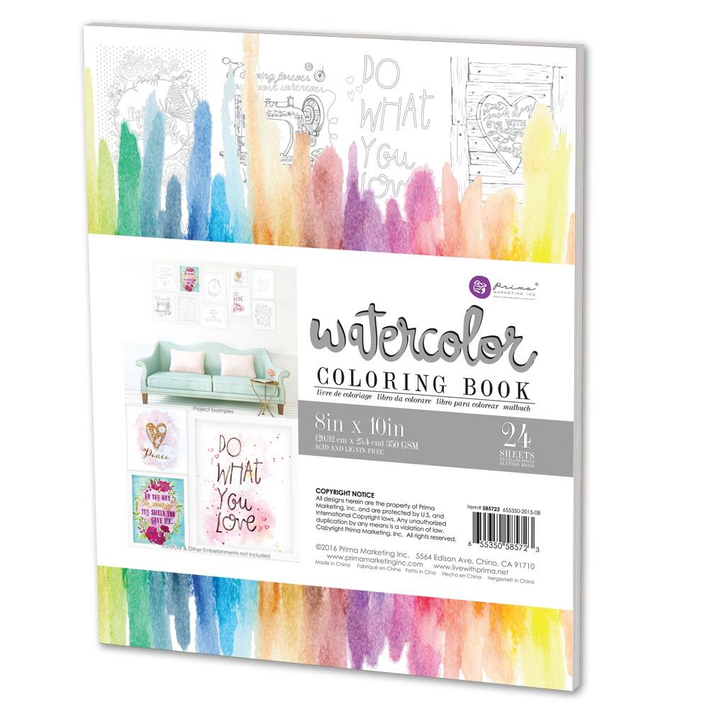 Prima Watercolor Coloring Book