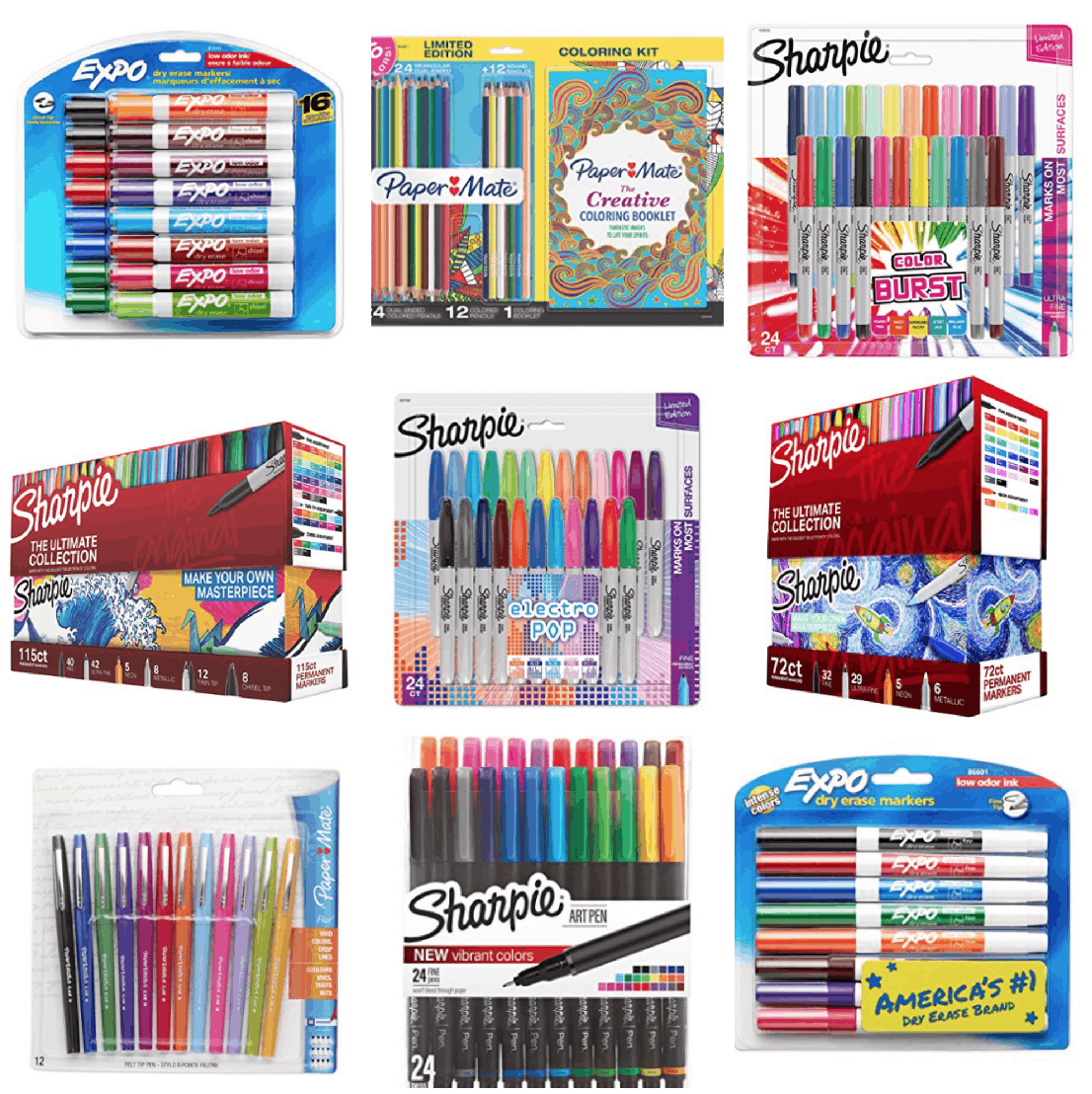 Up To 72  Off Sharpie, Prismacolor, Paper Mate, And More