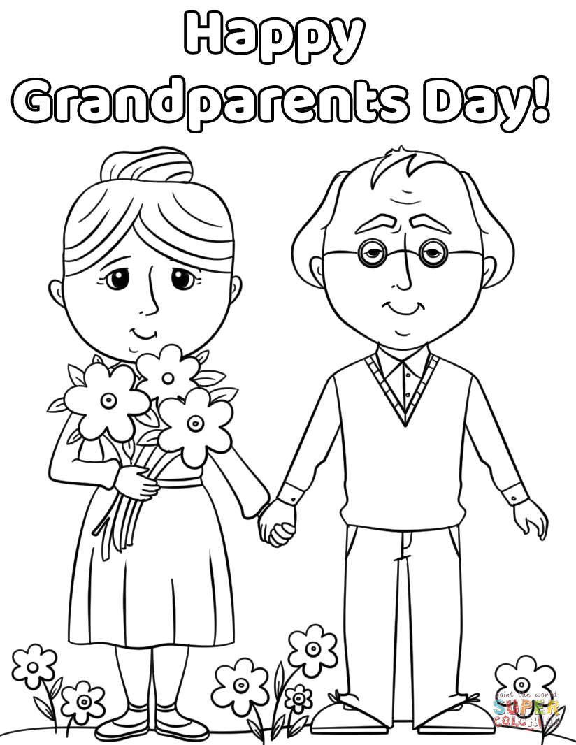 Coloring Pages ~ Splendi Grandparents Day Coloring Sheet Pages