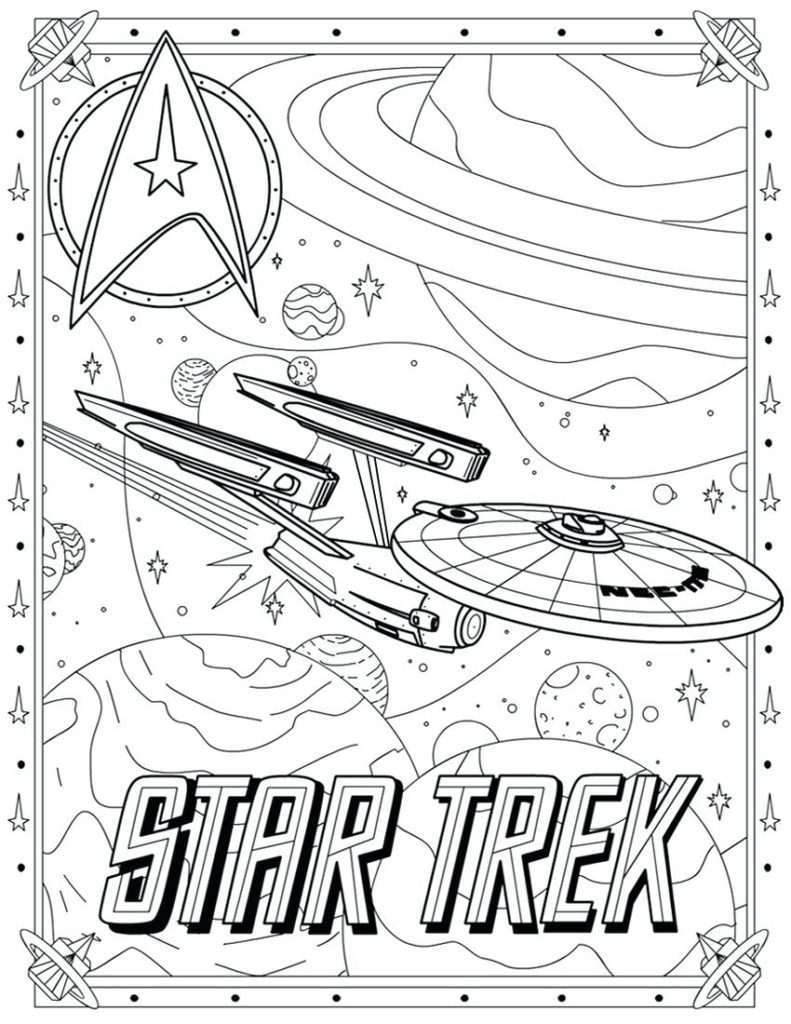 Star Trek Coloring Pages 1  2950