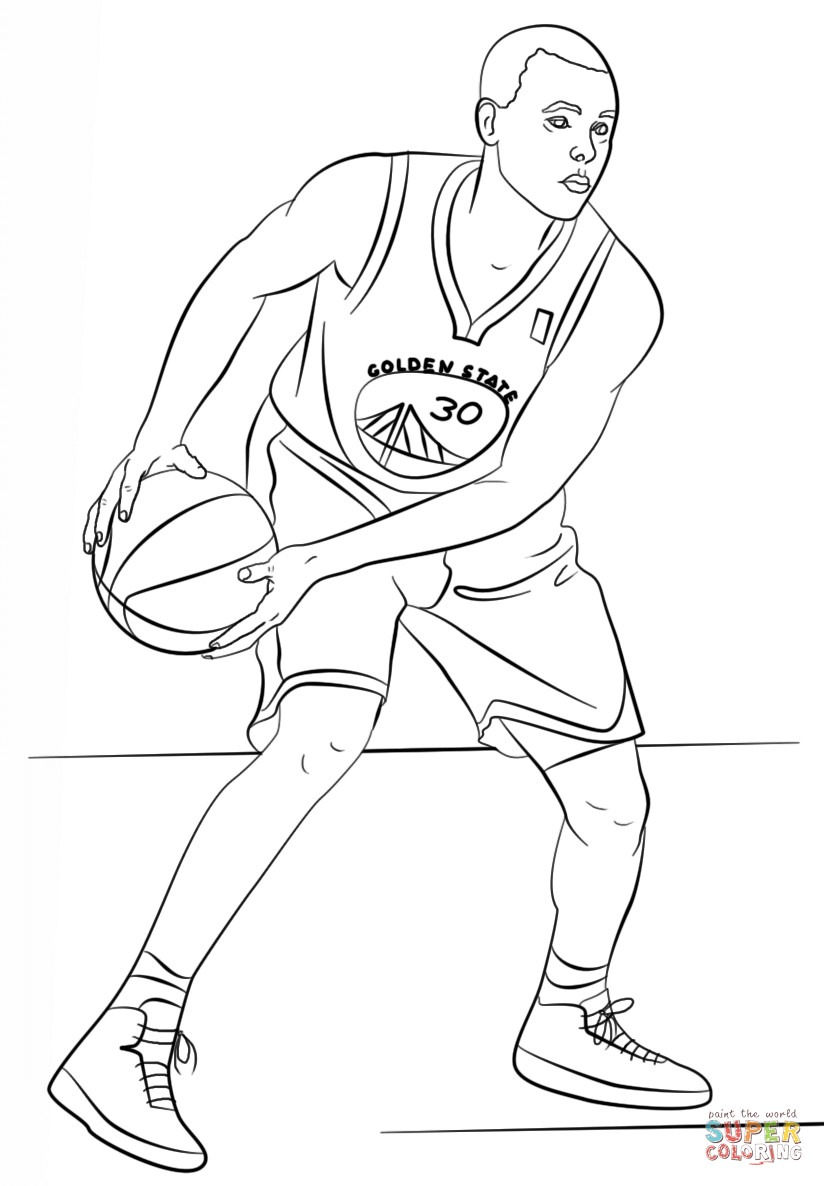 Stephen Curry Coloring Page Free Printable Pages Unusual Stephan