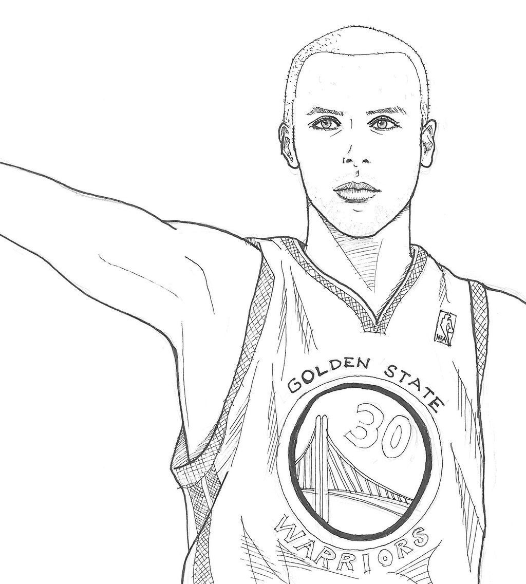 Stephen Curry Coloring Sheets