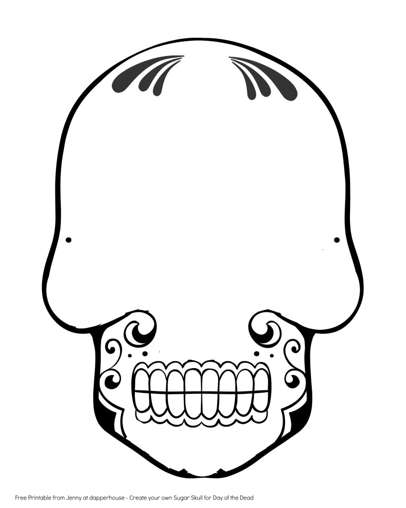 Free Printable Create A Sugar Skull For Day Of The Dead Activity