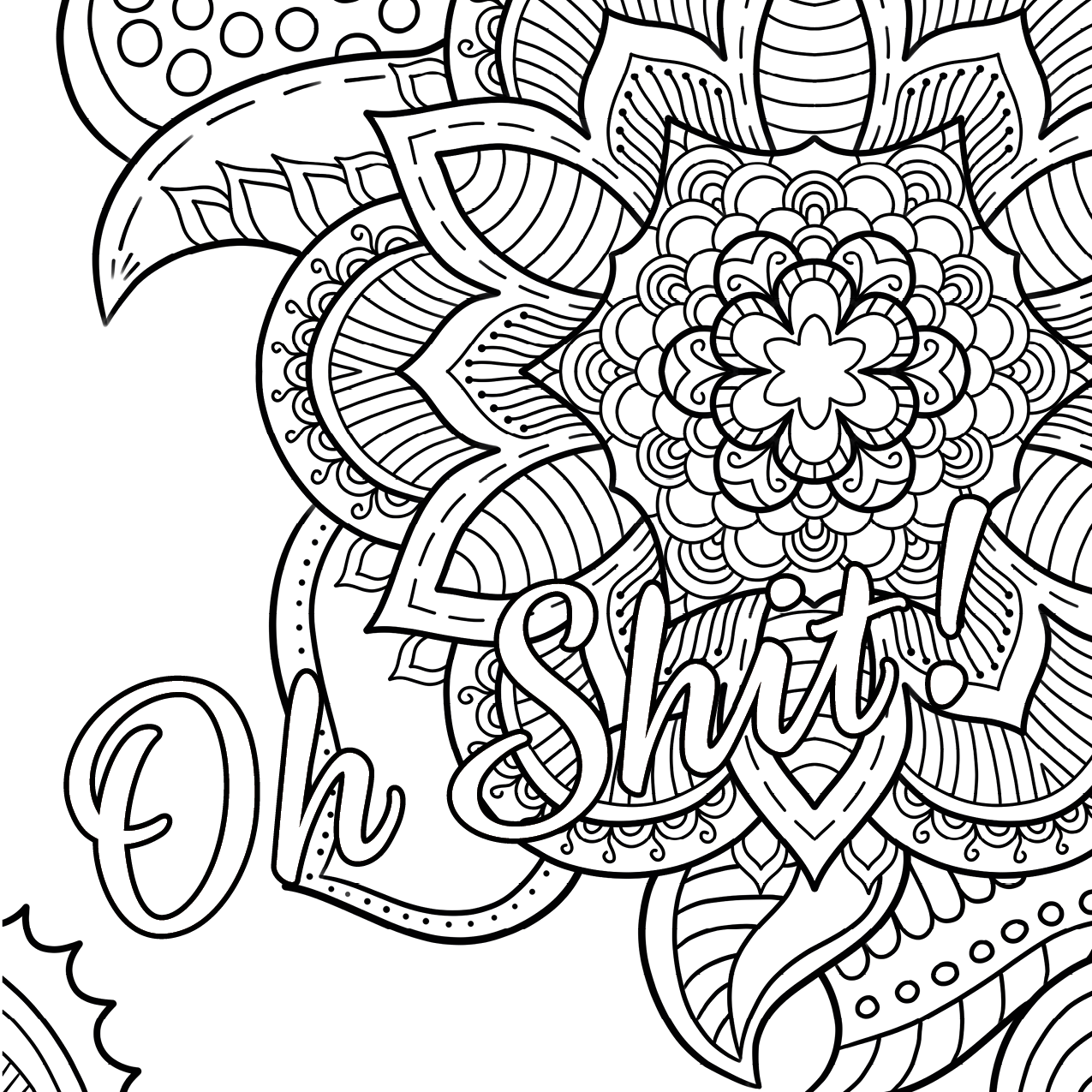 Swear Words Coloring Pages Word Free Printable Nazly Me 6900×5328