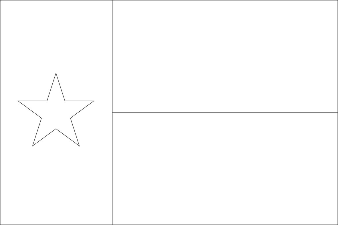 Texas Flag Coloring Sheets