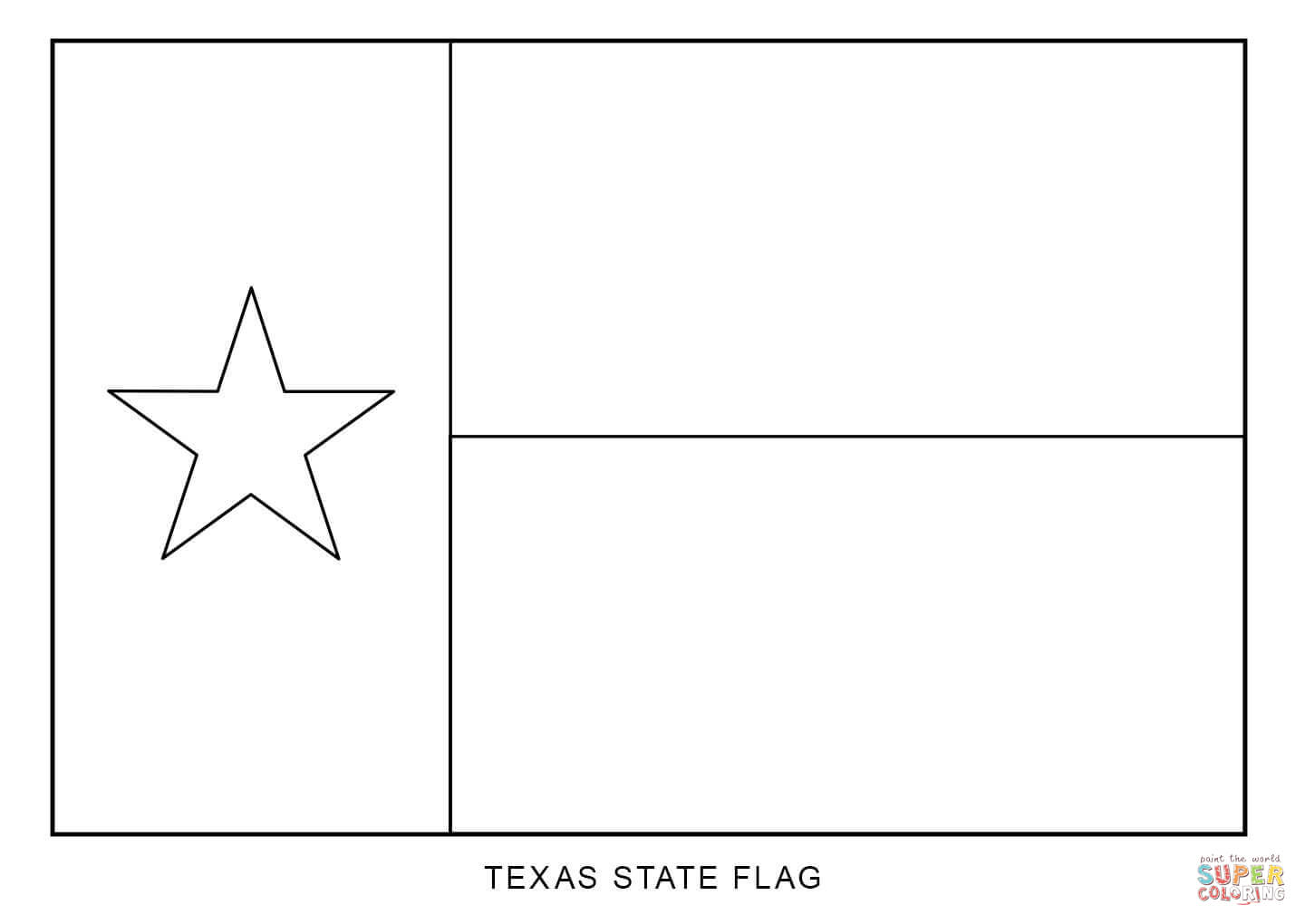 Texas State Flag Coloring Page Pages 12