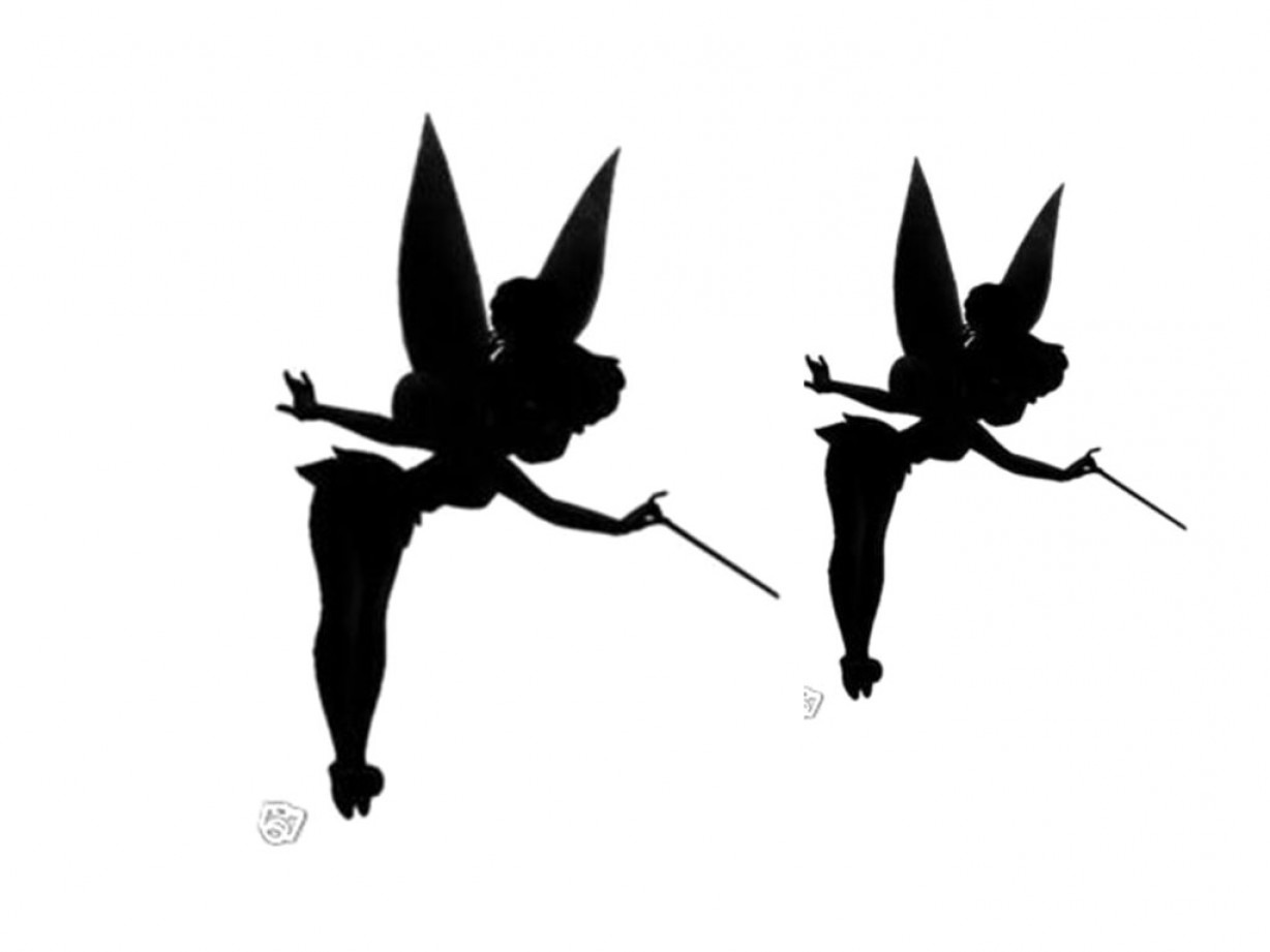 Tinkerbell Silhouette Printable X