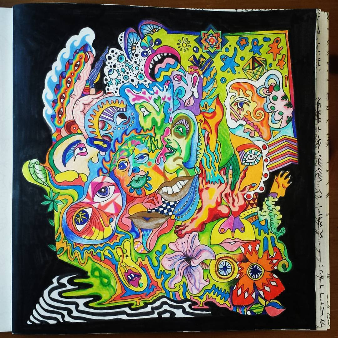 The Stoner's Coloring Book — An Example Of Some Beautiful Coloring