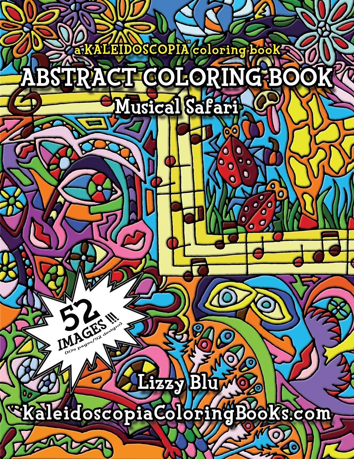 Musical Safari  An Abstract Coloring Book