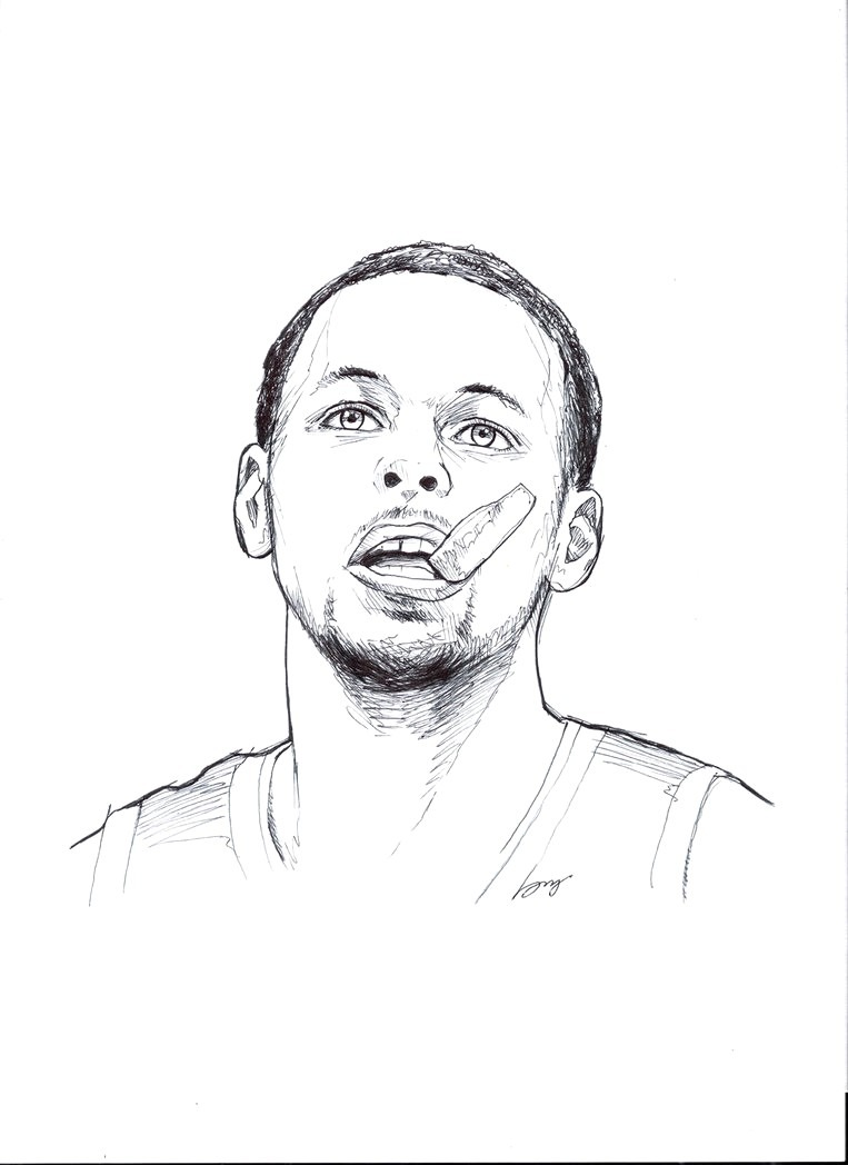 Useful Stephen Curry Coloring Pages 2723132 Stephan Page 1