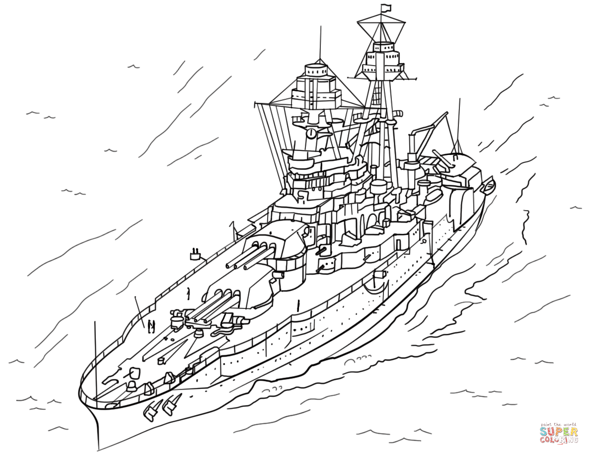 Uss Arizona Coloring Page