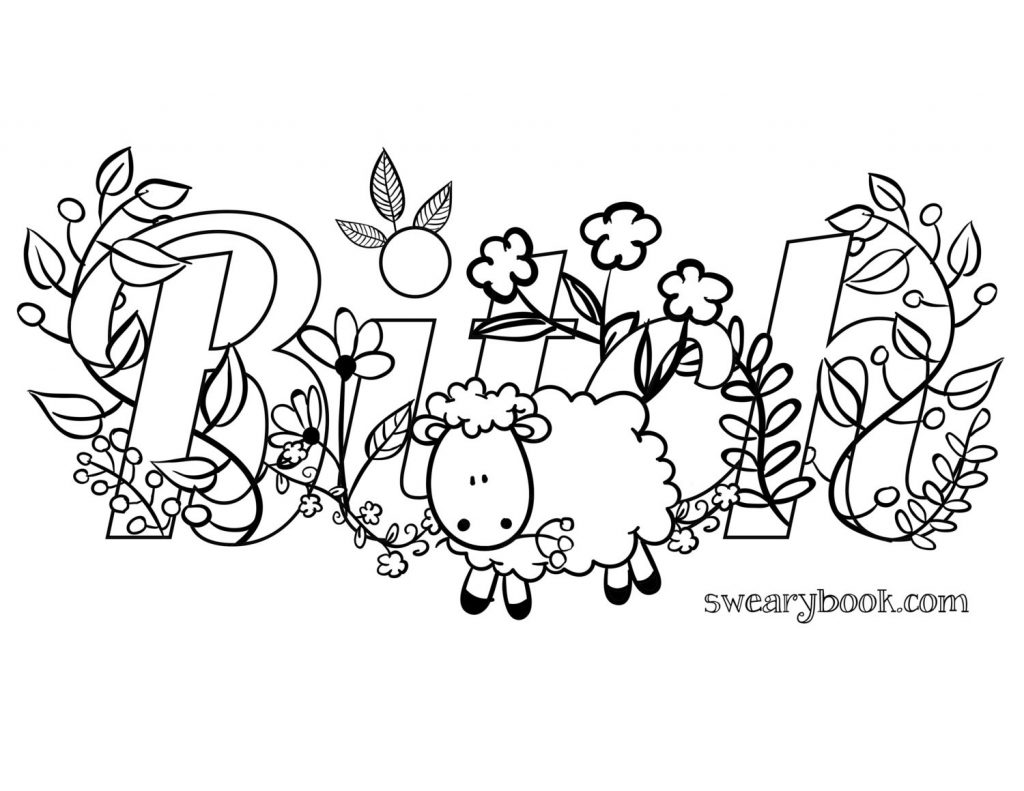 Coloring Pages ~ Word Coloring Pages Printable At Getcolorings Com