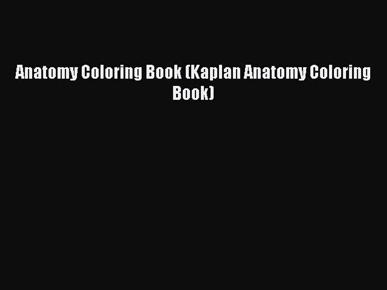 Download Anatomy Coloring Book (kaplan Anatomy Coloring Book) Free