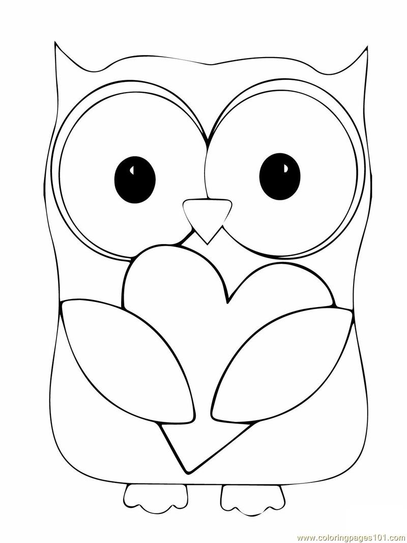 Baby Owl Coloring Pages, Free Printable Owl Coloring Pages For