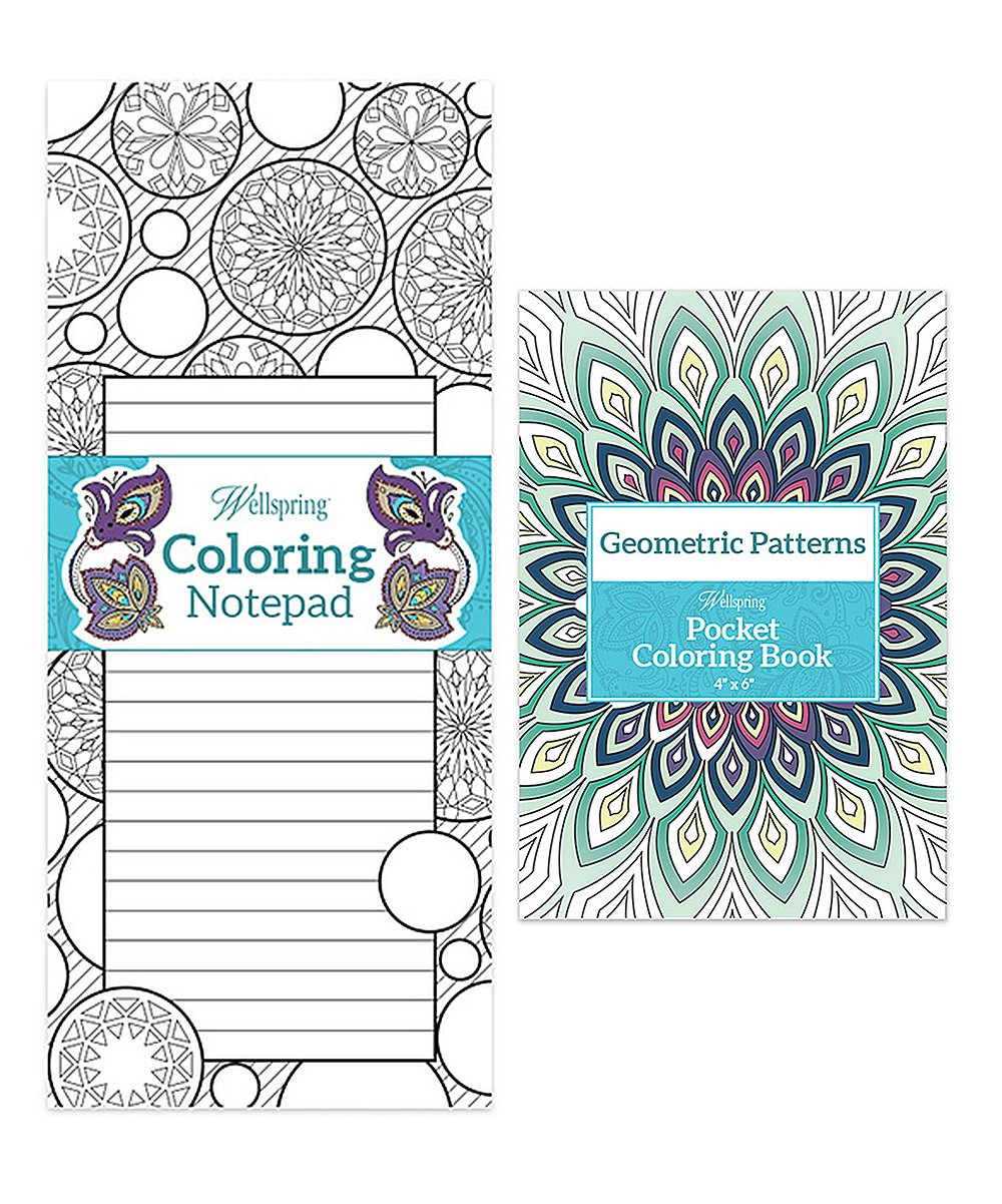 Wellspring Kaleidoscope Coloring Notepad & Geometric Patterns