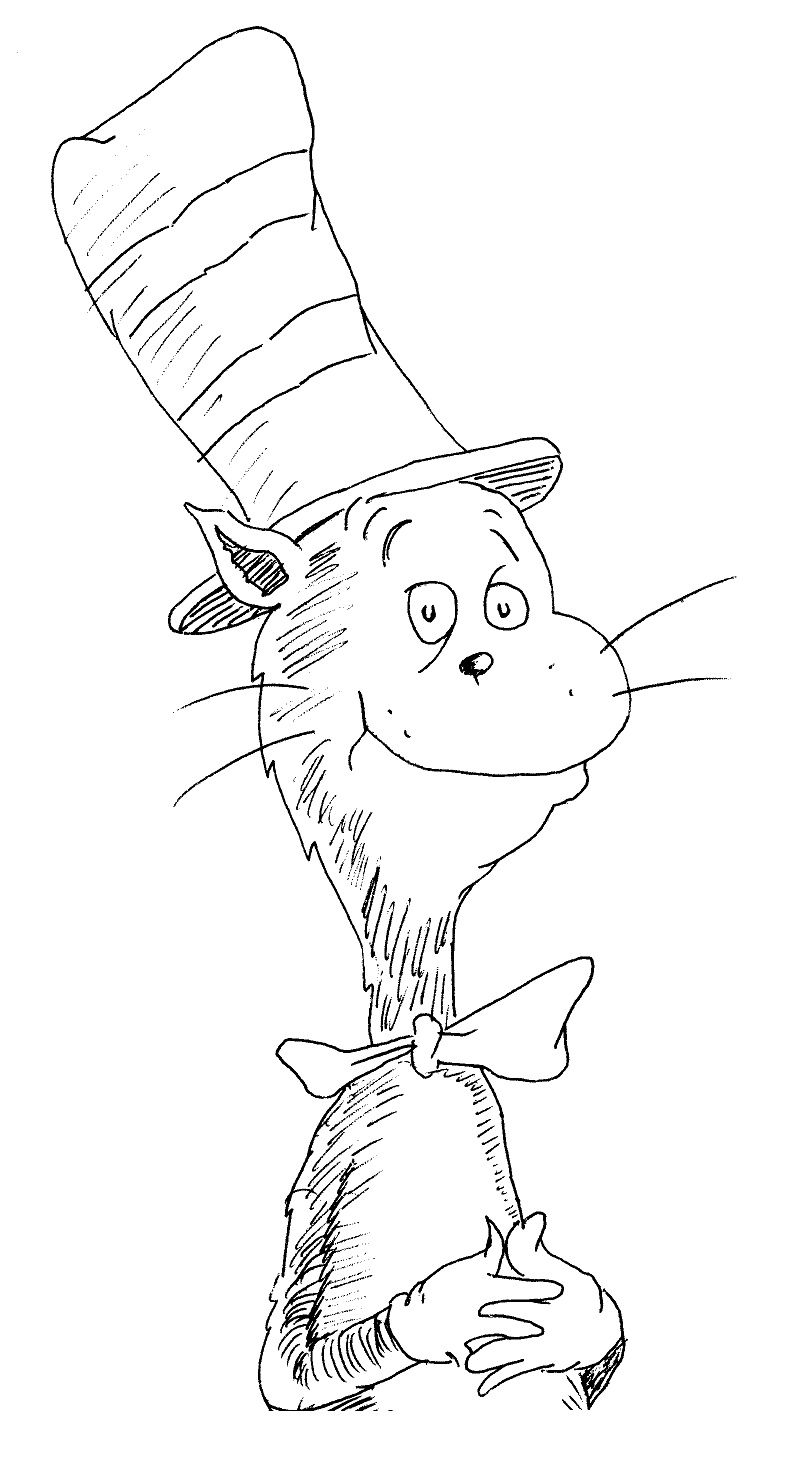 Cat In The Hat Coloring Pages To Print 01
