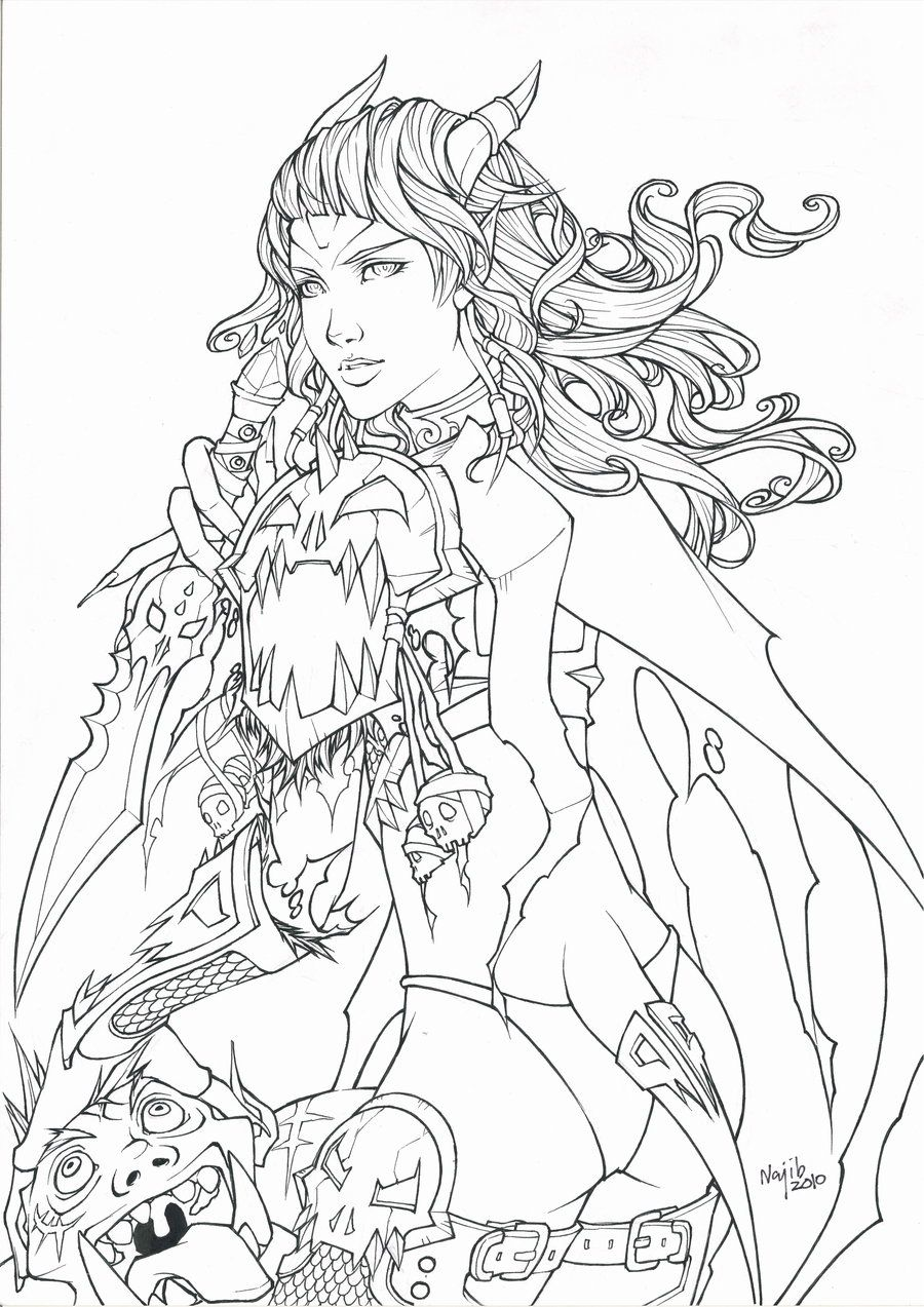 Get Draenei World Of Warcraft Coloring Pages