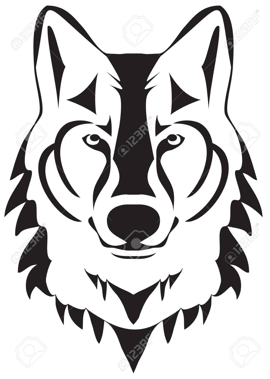 Vector Illustration Of A Wolf Head Silhouette Royalty Free