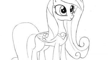 My Little Pony Outline