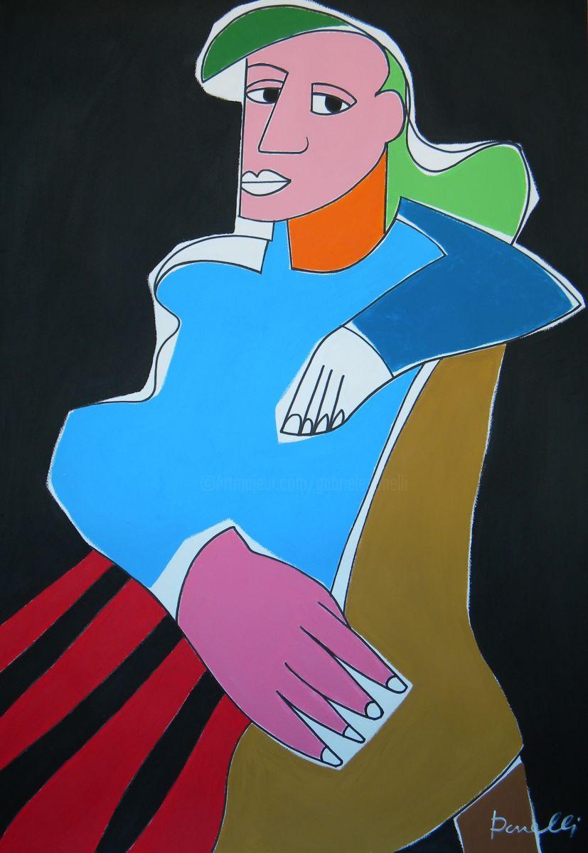 Portrait Of Dora Maar Painting By Gabriele Donelli