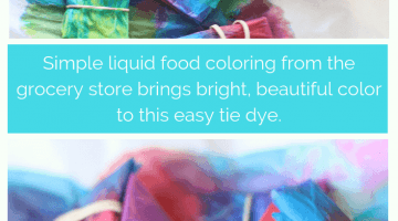 How To Tie Dye Paper With Food Coloring