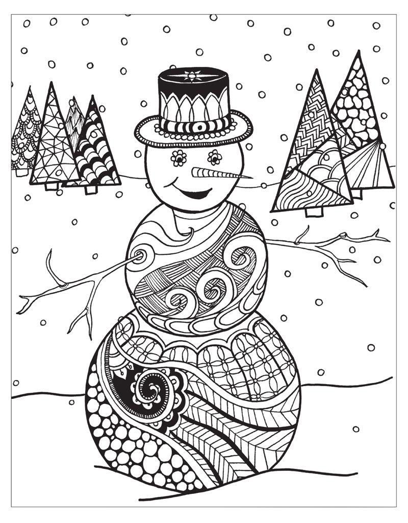 Zendoodle Coloring  Winter Wonderland