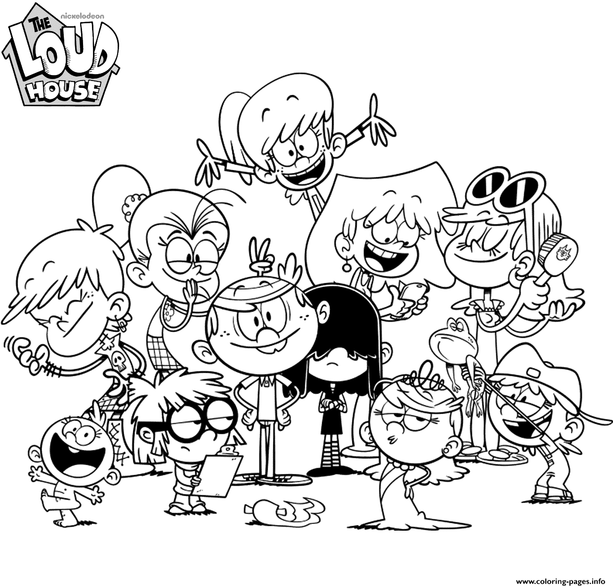 Nickelodeon The Loud House Coloring Pages Printable