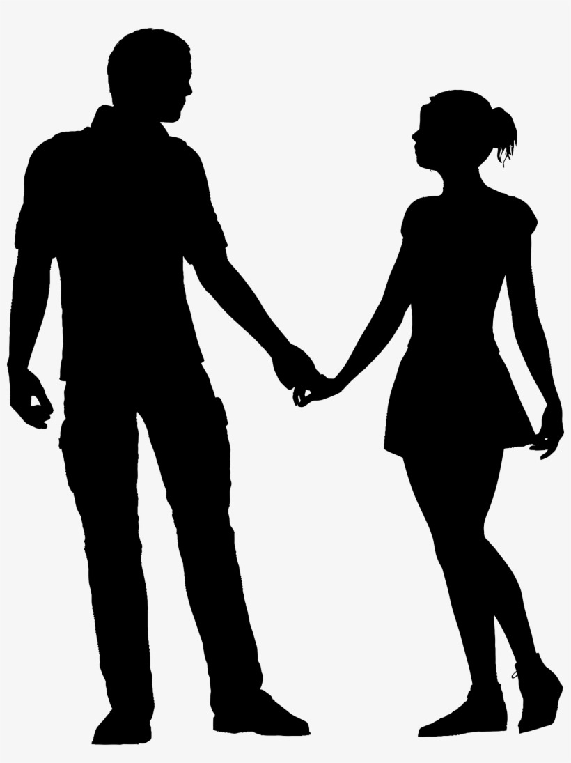 Silhouette Couple Png Png