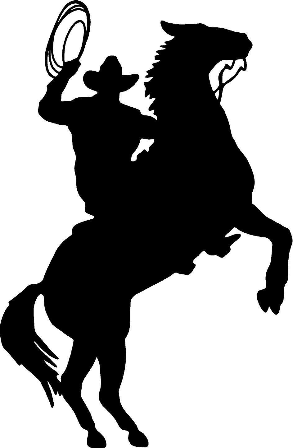 Cowboy Horse Rider Western Wall Decal Home Decor Silhouette Large