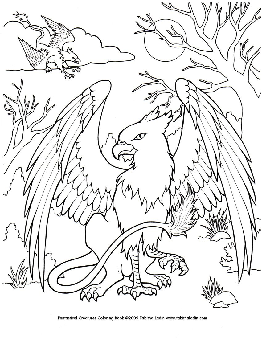 Mystical Creatures Coloring Pages Â« Free Coloring Pages