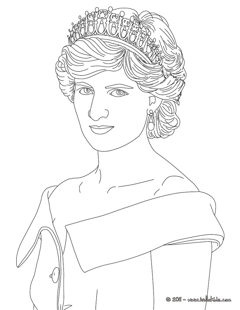 Famous British People Colouring Pages
