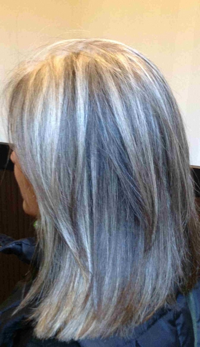 Blonde Highlights For Gray Hair