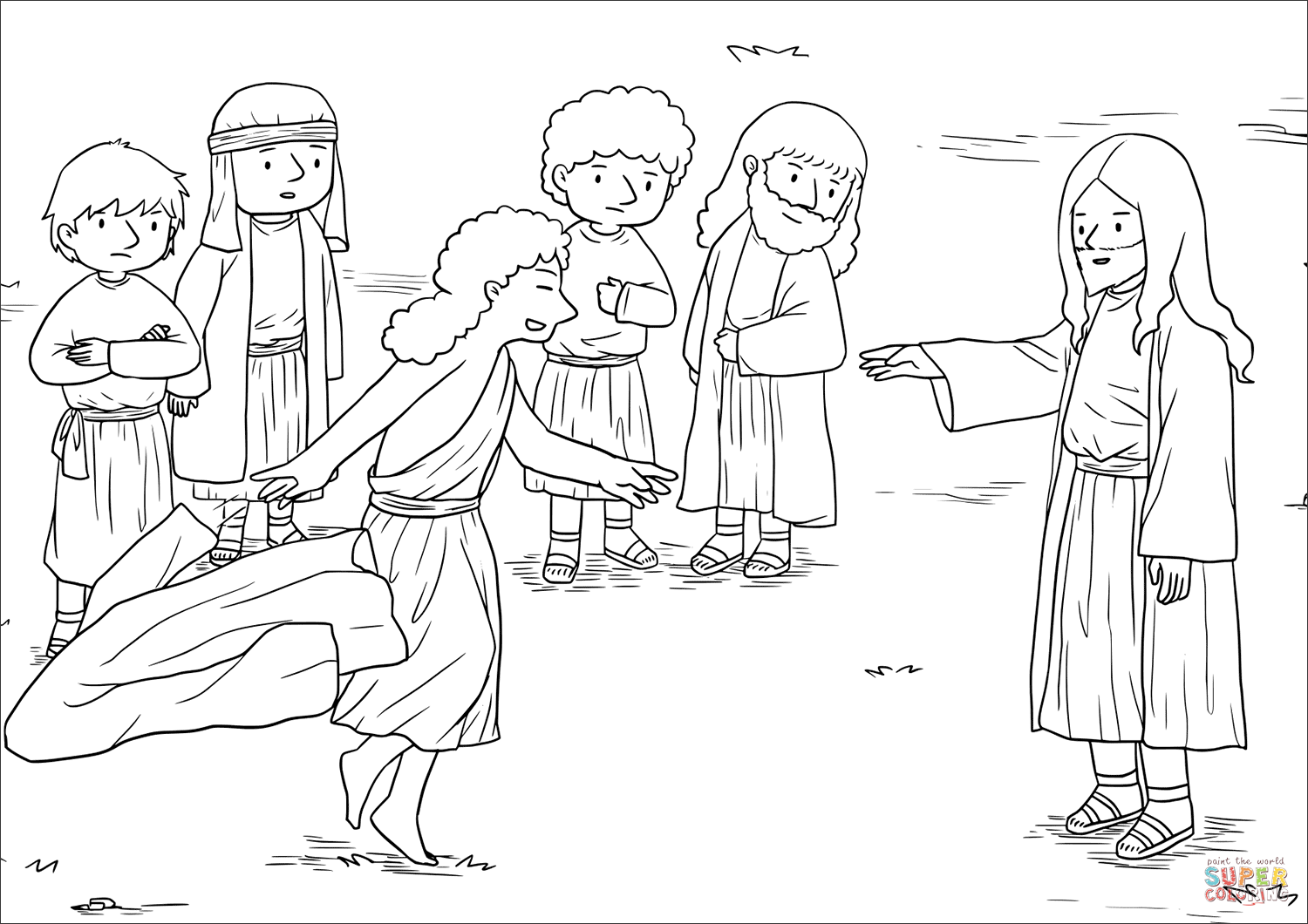 Blind Bartimaeus Receives His Sight (mark 10 46