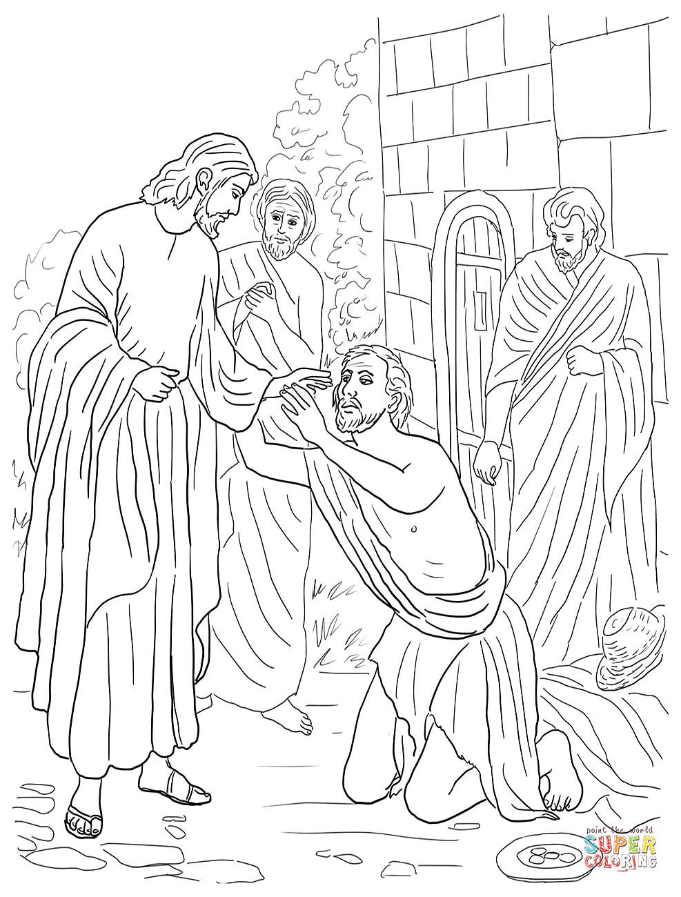 Image Result For Coloring Sheets For Jesus Heals Peter's Mother In
