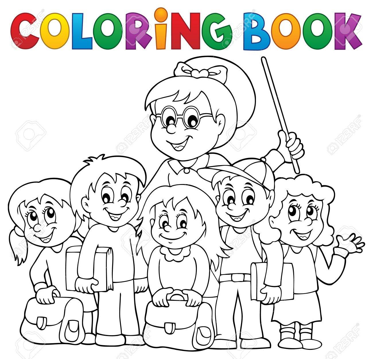 Coloring Book School Class Royalty Free Cliparts, Vectors, And