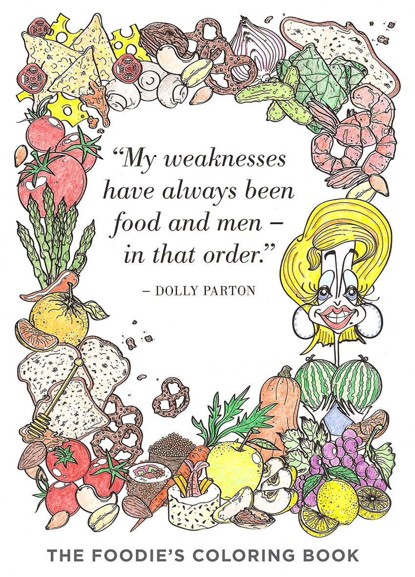 The Foodie's Colouring Book